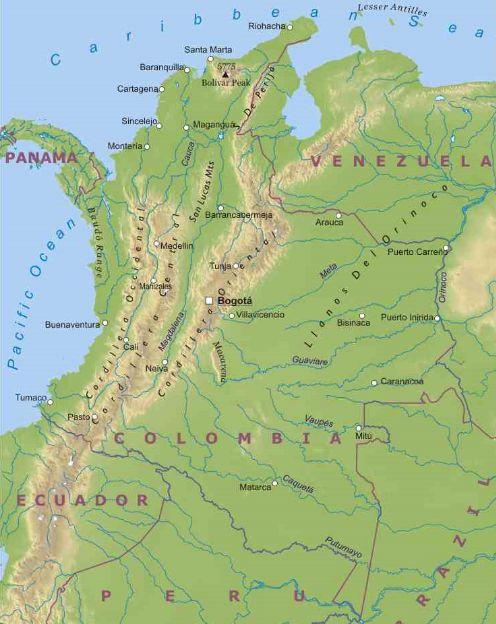 colombia    america meridionale    americhe    paesi    home