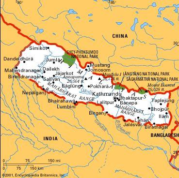 Cartina India Nepal.Nepal Asia Meridionale Asia Paesi Home Unimondo Atlante