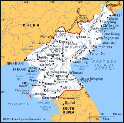 La Repubblica Popolare Cinese e la penisola coreana