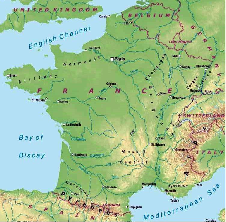 La Francia Cartina.La Francia Lessons Tes Teach