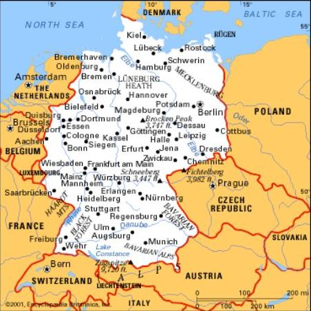 Cartina Nord Germania.Germania Lessons Tes Teach